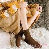 地板襪子女冬中筒襪秋冬季新款家居睡眠保暖加絨加厚雪地堆堆長襪 DR4045【Rose中大尺碼】