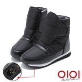 冰爪靴 機能美型防潑水魔術粘冰爪雪靴(男女款-黑) *0101shoes【18-635bk】【現貨】