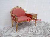 [紅蘋果傢俱] TS3005 新古典 小貴妃椅 小沙發椅 電話几 休閒椅 造型椅 洽談椅  金箔 銀箔