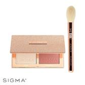 Sigma 玫瑰雙色打亮腮紅盤 9.16g + Soft Blend 60 玫瑰金蜜粉刷 Rose Glow Cheek Duo - WBK SHOP