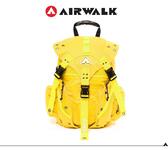 AIRWALK 繽紛三叉系列後背包-大(六色)  黃色