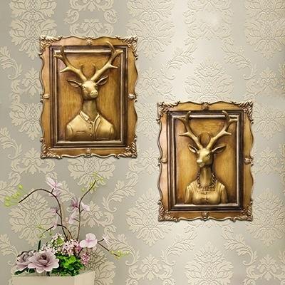 掛飾擺件-立體鹿頭造型樹脂居家壁掛擺飾用品6款73a28【時尚巴黎】