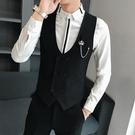 西裝馬甲男士秋冬伴郎服西式職業KTV酒吧夜店工作服馬夾背心套裝 依凡卡時尚