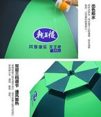 2.2米雙層魚傘萬向釣魚傘 2米超輕防曬釣傘 防雨遮陽垂釣傘  WY【快速出貨八折優惠】