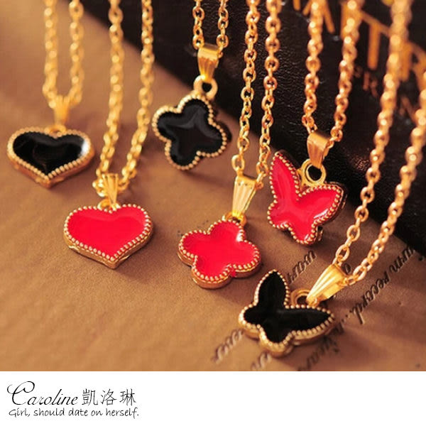 《Caroline》★【幸福】質感精緻‧迷人氣質甜美魅力、水晶時尚項鍊66669