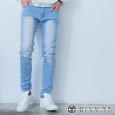 【OBIYUAN】韓版牛仔褲 內薄刷毛 淺洗色 大彈性 單寧長褲【HK5002】