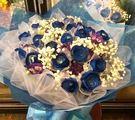 (YF-02)特選21朵藍玫瑰花束全台皆配送-心意不減1800元台北縣永和市情意花坊網路花店