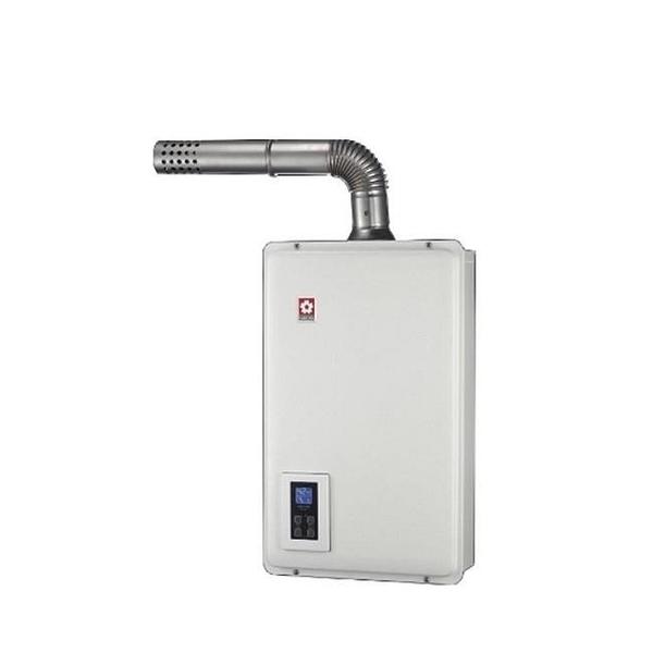 【南紡購物中心】櫻花【DH-1670AN】16公升強制排氣熱水器數位式 桶裝瓦斯