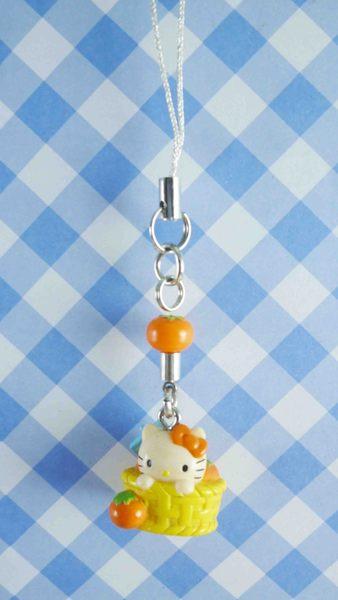 【震撼精品百貨】Hello Kitty 凱蒂貓~KITTY手機吊飾-番茄