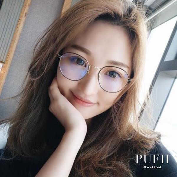 限量現貨★PUFII-眼鏡 復古珍珠圓框眼鏡(附眼鏡盒) -0426 現+預 春【CP14519】