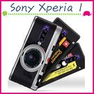 Sony Xperia 1 6.5吋 創意彩繪系列手機殼 個性背蓋 黑邊手機套 經典圖案保護套 錄音機保護殼