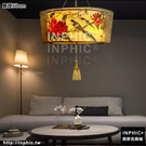 INPHIC-新中式布藝手繪吊燈禪意茶室茶樓燈具中國風風格臥室客廳燈酒店燈-直徑60cm_S3081C