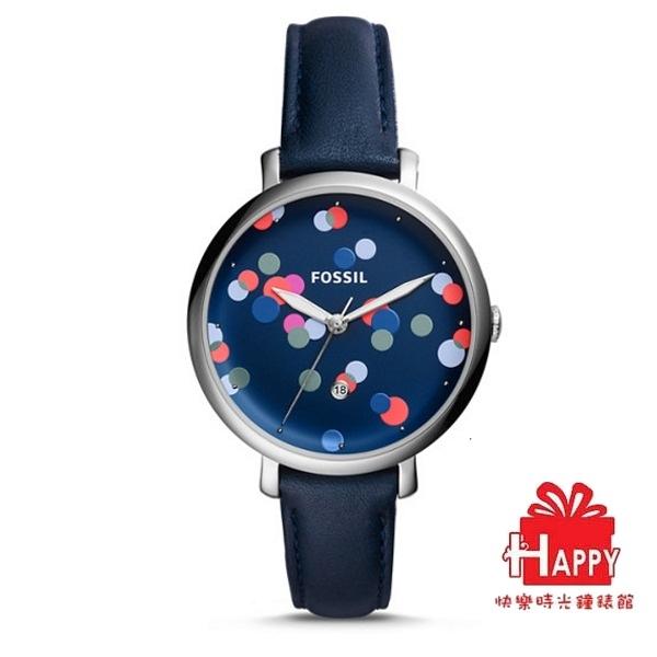 美國潮流☸FOSSIL☸繽紛點點時尚簡約腕錶ES4103   附原廠特殊錶盒 原廠保卡