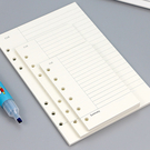 【BlueCat】文件夾6孔活頁月週日計劃橫線紙 (A5)