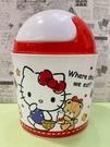【震撼精品百貨】Hello Kitty 凱蒂貓~日本塑膠垃圾桶/置物桶-紅#48826