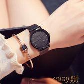 新款簡約手錶女士防水時尚潮流學生超薄休閒大氣石英女錶
