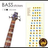【小麥老師樂器館】【L119】音階貼紙 GT-117 貝斯音階貼紙 指板貼紙 把位貼紙