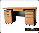 {{ 海中天休閒傢俱廣場 }} C-22 摩登時尚 辦公桌系列 183-41 CD主管桌-160cm(木紋檯面)