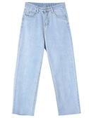 韓版寬鬆高腰直筒褲闊腿褲九分褲牛仔褲女裝褲子學生