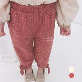 寬鬆圓點蝴蝶結綁帶長褲 童裝 褲子