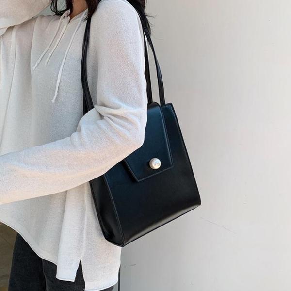 秋冬高級感包包女包新款2019百搭斜挎包女包大容量側背托特包洋氣  魔法鞋櫃