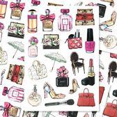 復古奢華香水包包行李箱防水貼紙手機電腦裝飾個性拉桿箱手賬貼畫【韓衣舎】