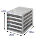 《享亮商城》BB-10050 摩登透明五層效率櫃   雙鶖