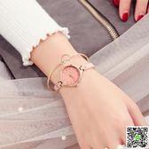手錶 時裝表簡約氣質手鏈表女士時尚潮流圓形小表盤手錶女防水石英腕表 印象部落