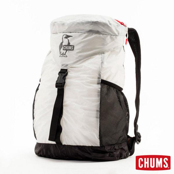 CHUMS 日本 超輕量後背包 可折疊 貝殼白 CH602145W010