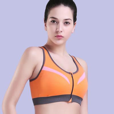 新款塑形聚攏防震運動胸罩前拉鍊跑步瑜伽健身無鋼圈健身背心內衣   -124820020