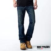 BIG TRAIN   割破噴漆小直筒褲(中深藍)-BM702477