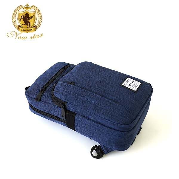 單肩背包 簡約防水多口袋斜胸包後背包包 NEW STAR BK241
