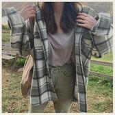 ✦Styleon✦正韓。氣質三色格紋短絨羊毛翻領外套。韓國連線。韓國空運。1113。