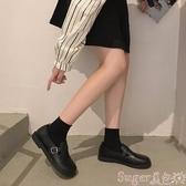 娃娃鞋娃娃鞋女2020秋季新款平底百搭網紅圓頭復古英倫風小皮鞋一腳蹬潮 交換禮物