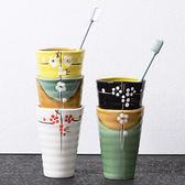 創意日式陶瓷刷牙杯子情侶牙刷杯牙缸杯漱口杯具杯洗漱杯   初見居家