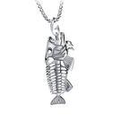【5折超值價】 【316L西德鈦鋼】最新款歐美風格個性魚骨造型男款鈦鋼項鍊