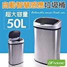 《DFhouse》歐托感應式高級垃圾桶 超大容量 全自動智能感應 不鏽鋼材質