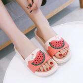 拖鞋女 水果拖鞋女夏室內外居家情侶浴室防滑可愛軟底涼拖鞋外穿時尚家用·夏茉生活