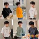 男童短袖T恤純棉中大童夏裝半袖薄款兒童打底【淘嘟嘟】