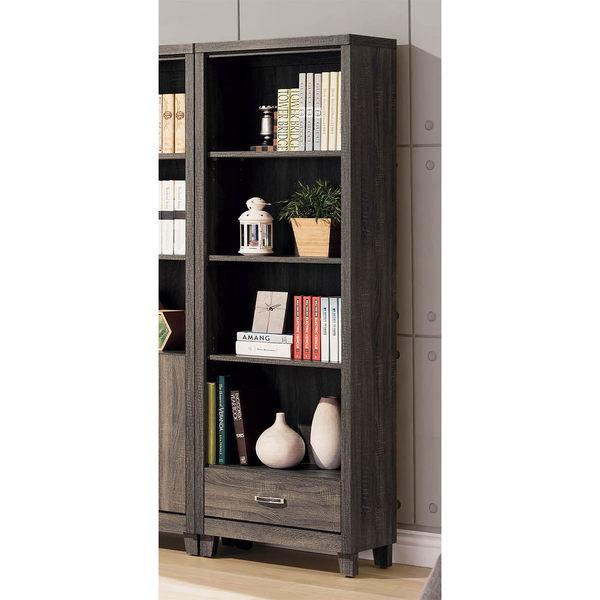【森可家居】亞瑟2尺下抽書櫃 8SB227-5 開放式書櫥 收納 木紋質感 北歐工業風 MIT 台灣製造