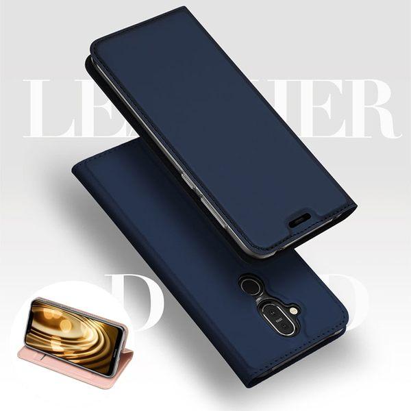 諾基亞 Nokia 8.1 手機皮套 插卡 支架 磁吸 手機殼 商務 保護套 防摔 翻蓋 保護殼 DUX DUCIS