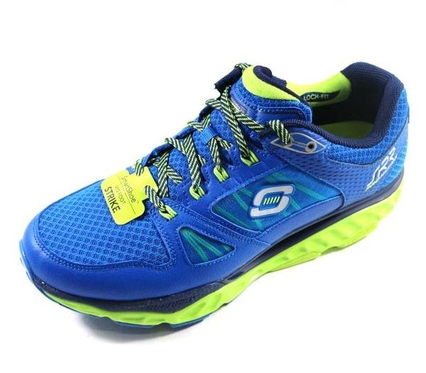 零碼出清SKECHERS (男) 回彈力慢跑鞋 SRR PRO-RESISTANCE 訓練專用 - 999738BLLM 藍綠[陽光樂活]