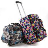 旅行行李袋-休閒手提大容量印花拉桿包5款73b29[時尚巴黎]