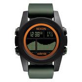 NIXON The Unit Tide40 飆悍美式軍風運動腕錶-錶帶綠