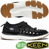 KEEN 1020580黑/白 Uneek O2 青少年戶外編織涼鞋 兒童運動鞋/水陸兩用溯溪鞋/沙灘鞋護趾拖鞋