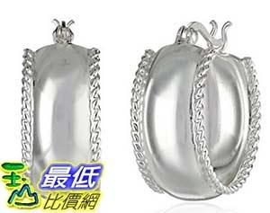 [美國直購] Sterling Silver 20mm Twist Border Hoop Earrings 耳環