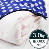 【岱妮蠶絲】BY30991天然特級100%長纖桑蠶絲被-3kg (雙人加大7x8)