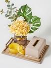 紙巾盒創意高檔輕奢抽紙盒餐巾收納盒擺件現代客廳茶幾美式北歐皮 夢幻小鎮