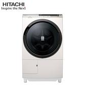 [HITACHI 日立家電]11.5公斤 尼加拉飛瀑日製AI洗脫烘滾筒右開洗衣機-珍珠白 BDSX115CJR-N