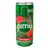 法國Perrier 氣泡天然礦泉水 草莓風味鋁罐(250mlX30)
